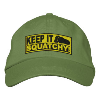 Yellow *EMBROIDERED* Keep It Squatchy! - Bobo's Embroidered Baseball Cap