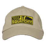 Yellow *EMBROIDERED* Keep It Squatchy! - Bobo's Embroidered Hats