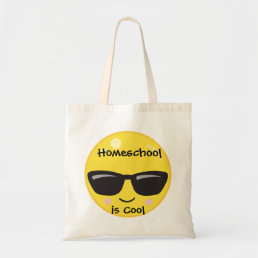 Yellow Emoji Homeschool is Cool Tote Bag