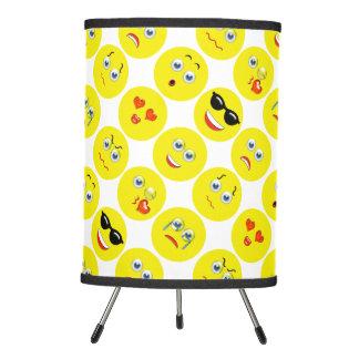 Yellow Emoji Pattern Tripod Lamp