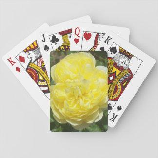 Yellow English Rose Playing Cards