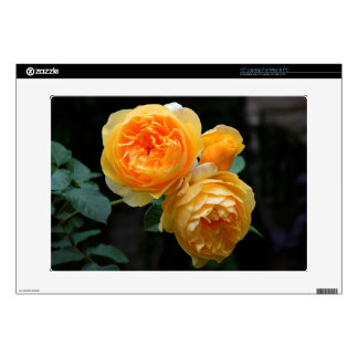 """Yellow English Roses Decal For 15"""" Laptop"""