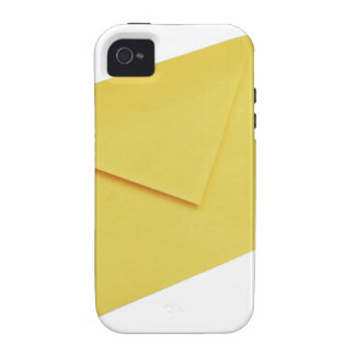 Yellow envelope isolated on white iPhone 4/4S covers
