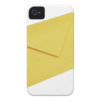 Yellow envelope isolated on white iPhone 4 cover