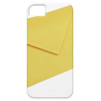 Yellow envelope isolated on white iPhone 5 cases