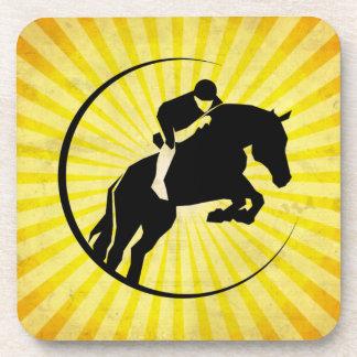 Yellow Equestrian Drink Coaster