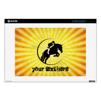Yellow Equestrian Laptop Decals