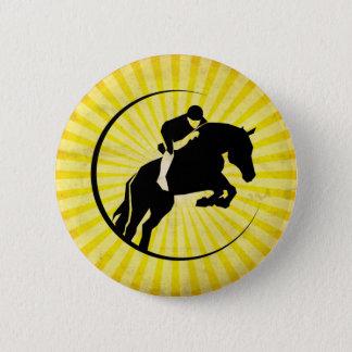 Yellow Equestrian Pinback Button