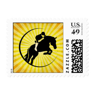 Yellow Equestrian Postage