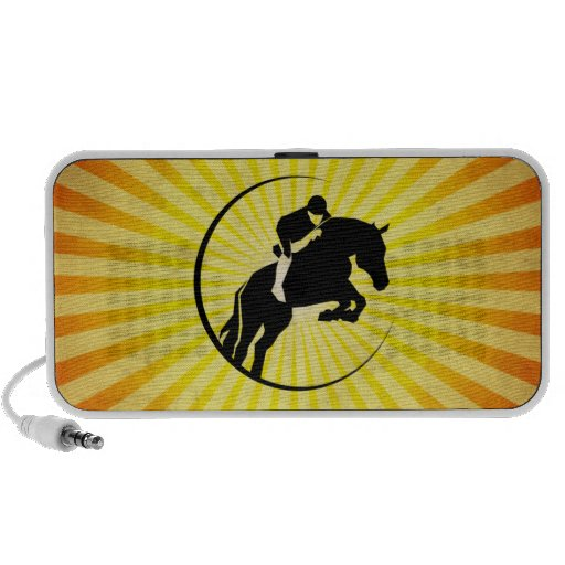 Yellow Equestrian iPod Speakers