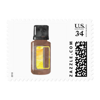 Yellow Essential Oil Bottle Stamp