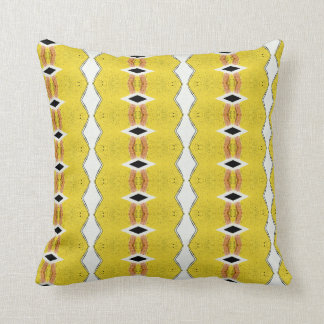 Yellow ethnic African style pattern Throw Pillow
