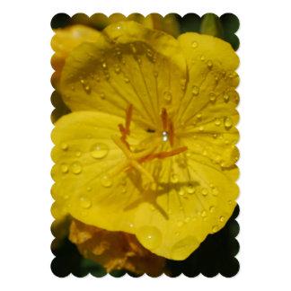Yellow Evening Primrose 5x7 Paper Invitation Card