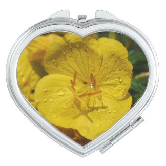 Yellow Evening Primrose Mirrors For Makeup