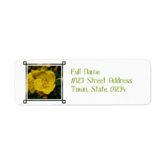 Yellow Evening Primrose Return Address Label