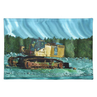 Yellow Excavator Earth-Mover Art Gift Placemat