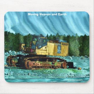 Yellow Excavator Earth Mover Art Mousepad