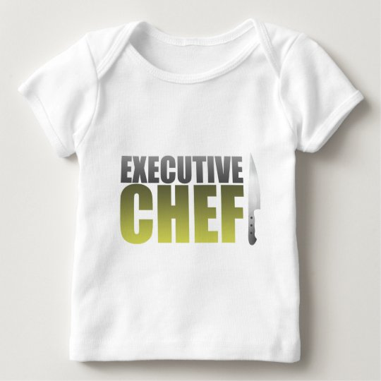 Yellow Executive Chef Baby T-Shirt