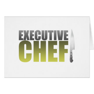 Yellow Executive Chef Card