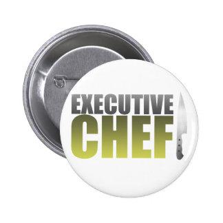 Yellow Executive Chef Pinback Button