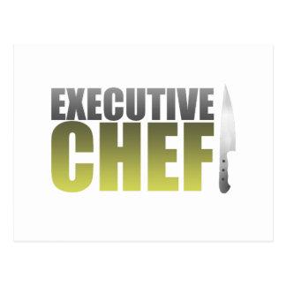 Yellow Executive Chef Postcard