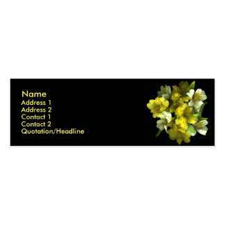 Yellow Explosion Profile Cards Double-Sided Mini Business Cards (Pack Of 20)