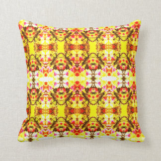 Yellow Express Throw Pillow