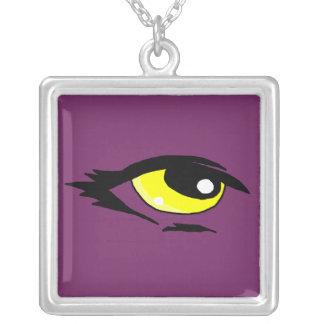 Yellow eye design matching jewelry set
