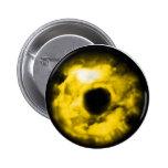 Yellow eye graphic Monster eye? Cosmic Pinback Button