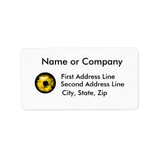 Yellow eye graphic Monster eye? Cosmic Personalized Address Labels