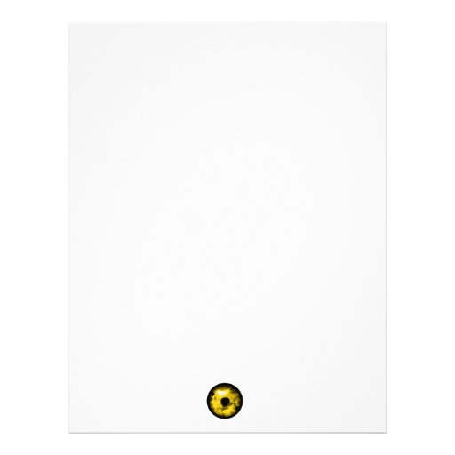 Yellow eye graphic Monster eye? Cosmic Customized Letterhead