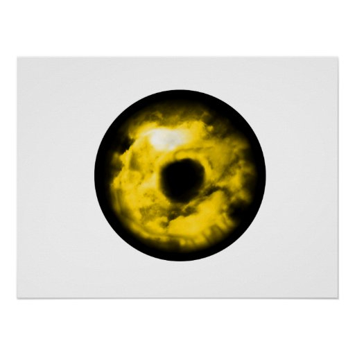 Yellow eye graphic Monster eye? Cosmic Poster