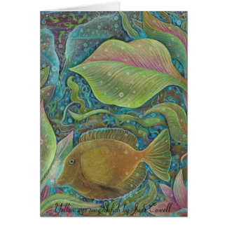 Yellow eye surgeonfish Greeting Card