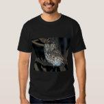 Yellow Eyed Eastern Screech Owl at Midnight T-Shirt