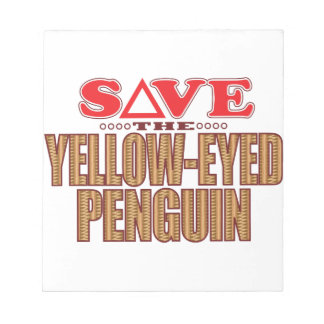 Yellow-Eyed Penguin Save Notepad