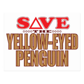 Yellow-Eyed Penguin Save Postcard