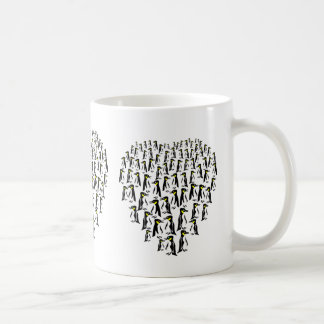 Yellow eyed penguins heart cup