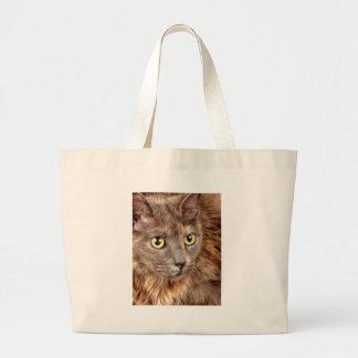 Yellow eyes tote bag