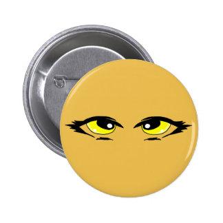 Yellow eyes 2 inch round button
