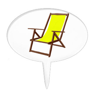 yellow fabric beach chair.png cake topper