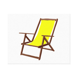 yellow fabric beach chair.png gallery wrap canvas