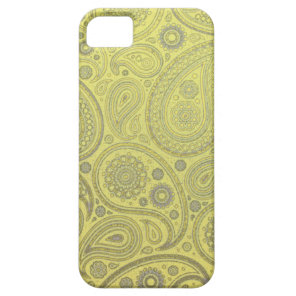 Yellow fabric paisley pattern iPhone SE/5/5s case
