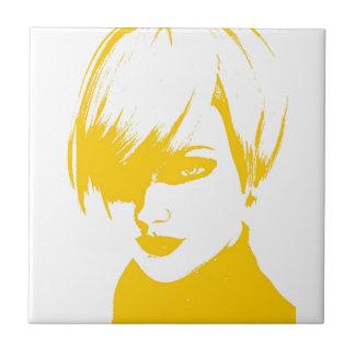 yellow face1 ceramic tile