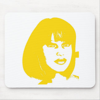 yellow face2 mouse pad