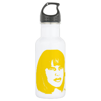 yellow face2 water bottle