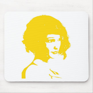 yellow face3 mouse pad