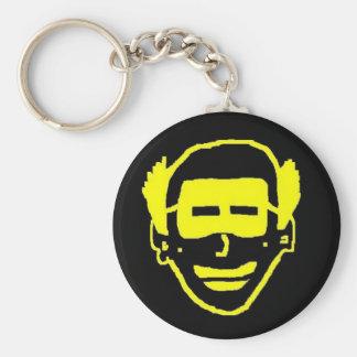 yellow face (2) basic round button keychain