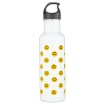 Yellow Face Pattern Stainless Steel Water Bottle