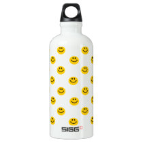 Yellow Face Pattern Water Bottle