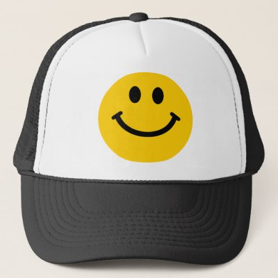 06868f88bc729 Happy Face Smile Yellow Trucker Hat